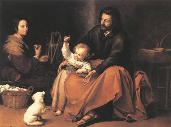Murillo The Holy Family 1650